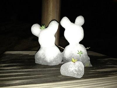 ディズニーシーの雪だるま